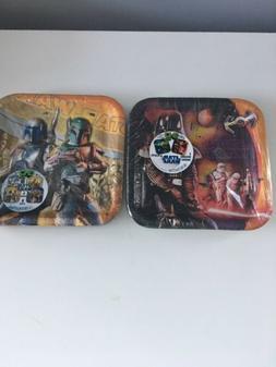 Star Wars 16 paper Plates & Yoda plush toy set Party supplie