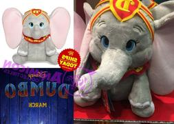 "Disney Store DUMBO PLUSH MEDIUM 12"" LIVE MOVIE Easter Toy Pa"