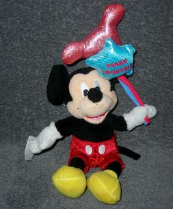 "DISNEY STORE EXCLUSIVE HAPPY BIRTHDAY MICKEY MOUSE 8"" PLUSH"