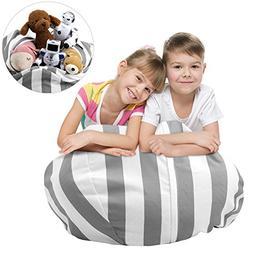 Stuffed Animal Storage Bean Bag Chair, Zooawa Kids Bedroom O