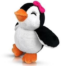 Stuffed Girl Penguin - 5 Inch Plush Animal Toy for Babies an