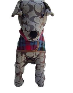 Coach Stuffed Toy Dog Signature C Pattern Collar & Coat Khak