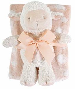 Stephan Baby Super-Soft Fleece Crib Blanket and Plush Toy Se