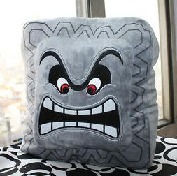 9inch Super Mario Bros Plush Soft Cushion Pillow Thwomp Dossun Doll Cuddly