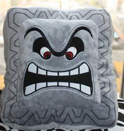 "Super Mario Bros Thwomp Plush Pillow Toy 6X6"""