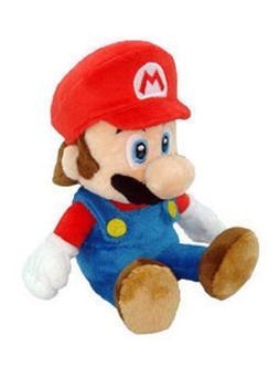 "Super Mario Plush - 8"" Mario Soft Stuffed Plush Toy Authenti"