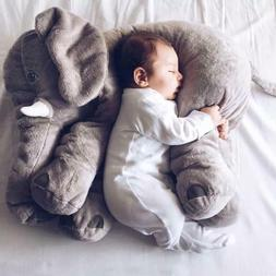 Super Soft Stuffed Plush Elephant Toy and Pillow | 24 inch