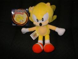 """SUPER SONIC The Hedgehog TOMY 8"""" Plush Yellow with Tags Ne"""