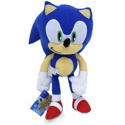 "Super Sonic The Hedgehog Classic Blue Stuffed 8"" inch Plush"
