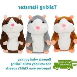 Talking Hamster Electronic Plush Toy Mouse Pet Sound Gift Ch