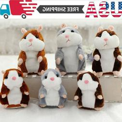 Talking Hamster Plush Toy Lovely Speaking Sound Record Repea