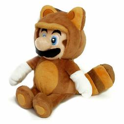 Super Mario Bros. Tanooki 9 Inch Plush Toy Brown