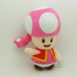 Toadette 7in Super Mario Bros Plush Toy Game Collectible Dol
