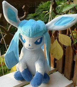 TOMY POKEMON #471 Glaceon Plush Doll Toy Figure Collectible