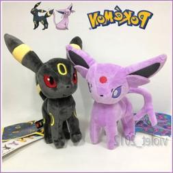 tongrou 2X Pokemon Espeon and Umbreon Plush Soft Toy Stuffed
