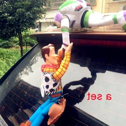 Toy Story Woody Buzz Lightyear Car Outside Hang Doll Plush T