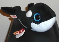 Ty Beanie Boos - NONA the Orca Killer Whale  NEW MWMT Plush