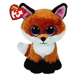 Ty Plush Boos 6-Inch Slick Brown Fox Plush Beanie Baby Stuff