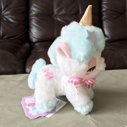 "AMUSE - Unicorn No Cony Blue Star Plush Toy 5"" Small NWT"