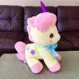 "AMUSE - Unicorn No Cony Yellow Pink ""Piany"" Plush Toy 18"