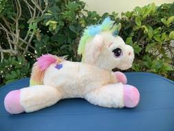 """Unicorn Pink 16"""" Small Plush Stuffed Animal Cute Kids Toy"""