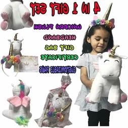 Unicorn Plush Fluffy Stuffed Animal Lovely Cartoon Doll Toys