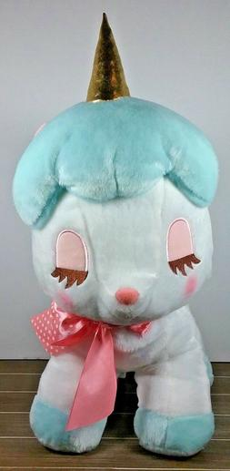 "Amuse Unicorn Plush No Cony 18"" Tall Stuffed Animal Toy Blue"