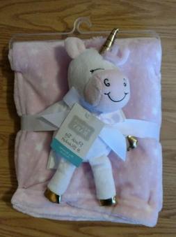 HUDSON BABY Unicorn Stars Blanket Plush Toy Set Infant Soft