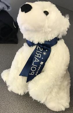 United Airlines Polaris White Teddy Bear Polar Plush Soft To
