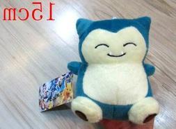 "US Seller Japanese Anime Pokemon Snorlax 6"" Plush #xiao-444"