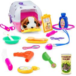 Vet Play Set For Toddlers & Kids Veterinarian Kit Toy With A
