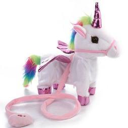 Walking Unicorn - Musical Singing Toy Plush Doll- Party supp