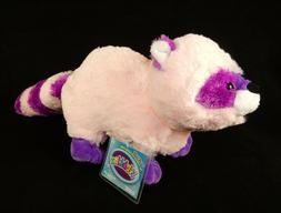 Webkinz Plush Toy Raccoon Raccutie ~ Pink & Purple Pet, SUPE