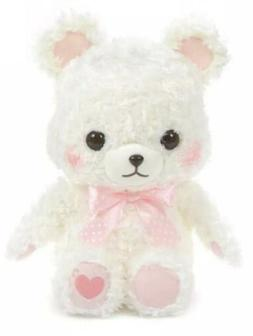 "AMUSE - White Pink Fortune Teddy Bear ""Whip"" Plush Toy 1"