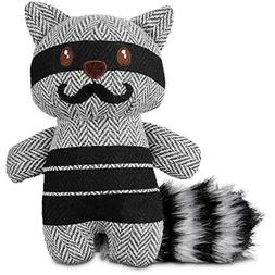 """Leaps & Bounds Wildlife Plush and Raccoon Dog Toy, 6"""", Small"""