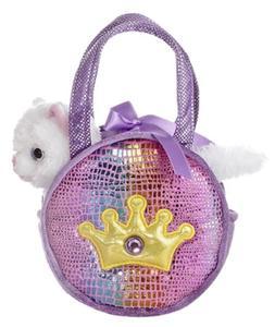 Aurora World Shimmery Fancy Pals Purple Plush Toy Pet Carrie