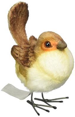 "Hansa Female Wren Plush Animal Toy, 3"""