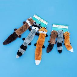 Zippy Paws Skinny Peltz No Stuffing Squeaky Plush Dog Toy Ch