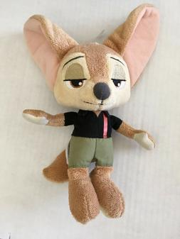 """Zootopia Finnick Fox Tomy Movie Character Toy Plush 9"""" New W"""